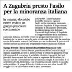 L'asilo per la minoranza italiana a Zagabria, 22.maggio 2015.
