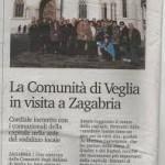 La comunita' di Veglia a Zagabria, 16 novembre 2013