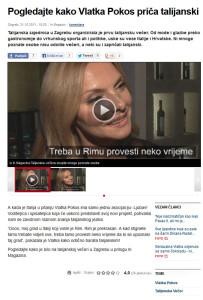 Vlatka Pokos parla l'Italiano